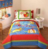 Circus Plaza Twin Quilt with Sham