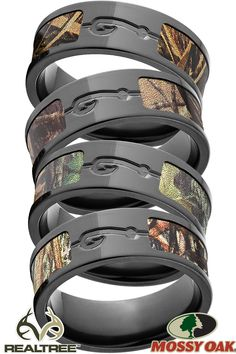 Unique Custom Rings, Wedding Bands and Jewelry USA Made par RenaissanceJewelry Country Wedding Rings, Country Wedding Colors, Camo Wedding Rings, Wedding Rings For Women, Wedding Ring Bands, Rings For Men, Camo Engagement Rings, Simple Wedding Arch, Camo Rings