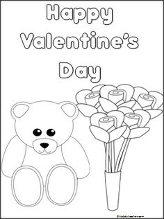 This is a Valentine's Day coloring page available FREE on Madebyteachers.com.