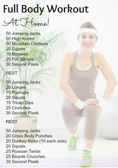 Full Body Workouts That You Can Do At Home   Posted By: NewHowToLoseBellyFat.com