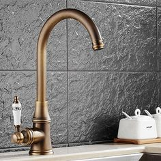 Free shipping Deck mounted solid brass kitchen sink faucet with single handle bronze kitchen faucet of hot cold water faucets kithcen ideas * AliExpress Affiliate's Pin. Click the VISIT button for detailed description