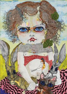 View Girl 6 by Del Kathryn Barton on artnet. Browse upcoming and past auction lots by Del Kathryn Barton. Del Kathryn Barton, Australian Painting, Australian Artists, Artist Painting, Painting & Drawing, Sketchbook Cover, Pop Art Illustration, Portrait Art, Portrait Paintings