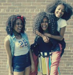These chicks are #HappyNappy! #naturalhair #teamnatural
