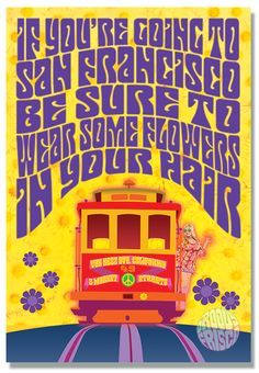 Groovy Frisco fine art prints of San Francisco icons in the style of the psychedelic Fillmore rock posters. Always designed & printed in San Francisco! San Francisco, Vintage Travel Posters, Vintage Ads, Concert Posters, Music Posters, Psychedelic Art, Summer Of Love, Art Prints, Artwork