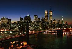 Manhattan Skyline and Brooklyn Bridge, NYC