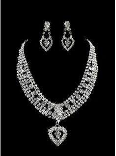élégante perle dames collier et boucles d'oreilles ensemble de bijoux(011005859)