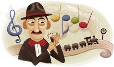 Adoniran Barbosa e o Trem das Onze ganham Doodle do Google no Brasil (Foto: Reprodução/Google) http://historiasgaucha.blogspot.com.br/