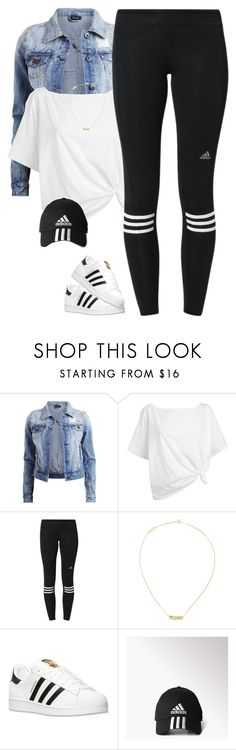 """Adidas*"" by thatchickcrazy ❤ liked on Polyvore featuring Vila Milano, Red Herring, adidas and Yves Saint Laurent"
