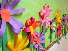 16 Ideas For Flowers Crafts Preschool Bulletin Boards Sunday School Flower Bulletin Boards, Spring Bulletin Boards, School Bulletin Boards, Kids Crafts, Preschool Crafts, Easter Crafts, Preschool Bulletin, Preschool Kindergarten, Deco Floral