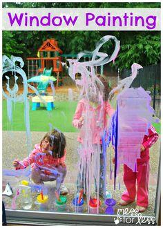 Kids Window Art - Window Painting
