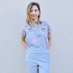 Sophia's Mila dungarees. Sewing pattern by Tilly and the Buttons