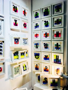 Letterpress monoprint tiles at Top Drawer Olympia, London Olympia London, Top Drawer, Letterpress, Printmaking, Tiles, Holiday Decor, Creative, Design, Home Decor