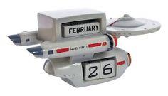 Star Trek TOS Enterprise Perpetual Calendar Statue