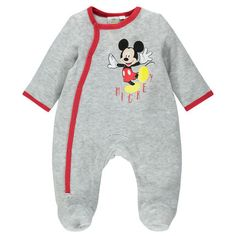 New collection   pyjama   dors-bien garçon en velours print Mickey  collection. Orchestra Official a298df25a66