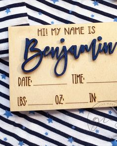 These custom engraved plaques are the perfect way to announce your baby's arrival. Use for hospital photos, birth announcements, baby shower gifts or cute photo props to showcase your little Wine Signs, Bar Signs, Baby Name Signs, Baby Names, Baby Name Announcement, Birth Announcements, Engraved Wood Signs, Handmade Baby Gifts, Be Natural