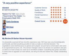 A DealerRater 5 Star Review