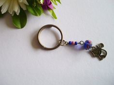 Key ring keychain charm beaded pendant charm bag by MoniceBoutique