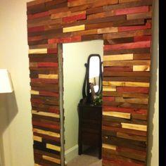 Wood shim mirror