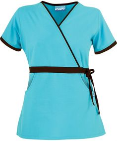 UA28C Butter-Soft Scrubs by UA™ Women's Mock Wrap Scrub Top with Side Tie http://www.uniformadvantage.com/pages/prod/ua28c-fashion-scrub-top.asp?frmColor=TICOB