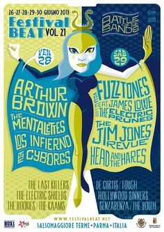 Festival Beat XXI-Battle of the Bands Salsomaggiore Terme(Parma)Italy Start June Live Bands-Dj's-Hawaiian Pool Part. Rock Posters, Music Posters, Psychedelic Rock, Beats, Dj, Battle, Budget, Artwork, Swiming Pool