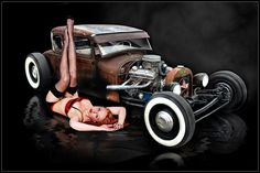 Hot Rod Art And Hotrod Artwork By Rat Rod Studios - Hot Rods and Girls