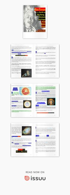 """12.23.2018 <> GOD TEMPLE is from earth to the BIG BANG, to EINSTEIN HERITAGE, to BIBLE FIRST LINES   Supplemental Volume to BEST SELLER """"COSMOLOGY, Physics, Philosophy"""", Springer Philosophy Books, Bigbang, Bangs, Einstein, Physics, Temple, Bible, Earth, God"""