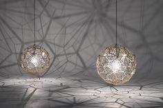 Tom Dixon's Etch Light Web Projects Amazing Geometric Shadows Tom ...
