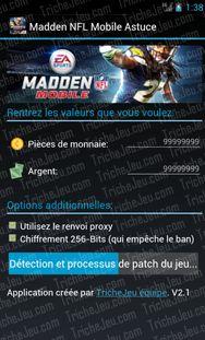 Nos développeurs ont créé quelque chose de spécial pour vous! Madden NFL Mobile  Triche est un programme grâce auquel vous oubliez la monnaie virtuelle manquant dans le Madden NFL Mobile de jeu. Essayez-le maintenant! http://trichejeu.com/madden-nfl-mobile-triche/
