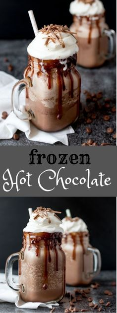Frozen Hot Chocolate #hotdrink #healthydrink