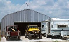 """More often than not our Quonset Hut Buildings are set on a concrete slab up to 8"""" thick. Description from powerbiltbuildings.com. I searched for this on bing.com/images"""