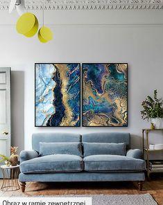 Abstrakcja - Komplet Grafik - 2 sztuki - malarstwo - Pakamera.pl Teak, Love Seat, Couch, Night, Artwork, Furniture, Home Decor, Create, Dining Room
