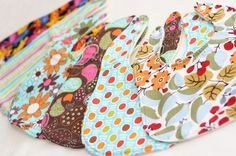 Baby Bibs  Set of 6 Custom Drooler bibs by thelemondropshoppe. They hold TONS of DROOL!