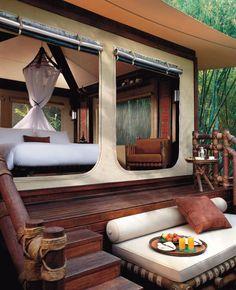 Aman-i-Khas, a Rajasthan luxury resort which rests on the edge of Ranthambhore National Park #India