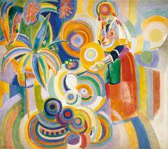 Tall Portuguese Woman - Robert Delaunay (1916)