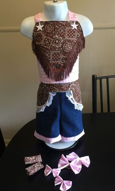403bdc71134d Details about New Little Mass Girls Boutique Pageant /Casual/Denim Wear  Outfit Size 2T-4Pc Set