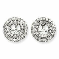 14k White Gold Diamond Earrings Jackets - JewelryWeb JewelryWeb. $2381.70