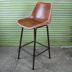 Industrial Style Leather bar chair by Mulbury