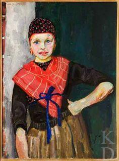 Jan Sluijters Staphorster meisje, ca. 1915 #Overijssel #Staphorst