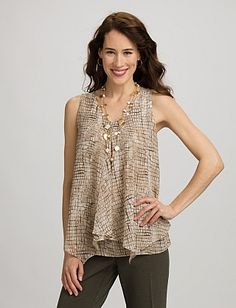 Croc Tiered Blouse.  So cute.  Now just have to find a cute jacket or open front top to wear over it.