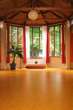 Yogazaal met vloerverwarming Ashram Loenen