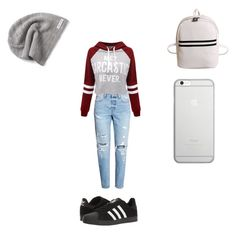 Sans titre #15 by grace-karali on Polyvore featuring polyvore, fashion, style, WithChic, adidas, Native Union, Converse and clothing