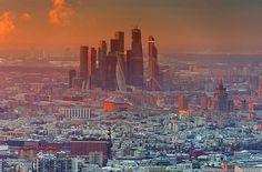 москва аэро фото Москва-сити