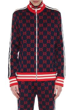97878599d Gucci GG Wallpaper technical jersey jacket | fashion | Gucci mens ...