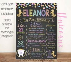 Hey, I found this really awesome Etsy listing at https://www.etsy.com/listing/461213750/first-birthday-chalkboard-poster-pastel