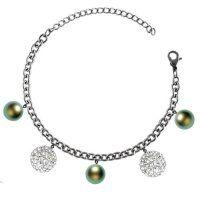 Náramok z chirurgickej ocele so Swarovski krištálmi Pearl Necklace, Swarovski, Pearls, Diamond, Silver, Jewelry, String Of Pearls, Jewlery, Beaded Necklace