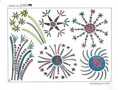 Free Fourth of July printable coloring sheet from Made by Joel.