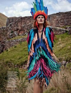 The Heart Of The Mountains. Catherine McNeil by Mariano Vivanco for Vogue Russia, March 2014