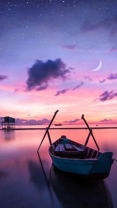 Sunset Boat Ocean IPhone Wallpaper - IPhone Wallpapers