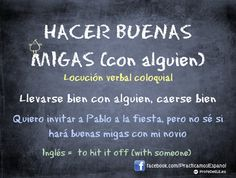 Hacer buenas migas con alguien - #coloquial #spanish #spanishteachers