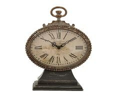 30 EUR Reloj de sobremesa en hierro y vidrio Épicerie - alto 21 cm